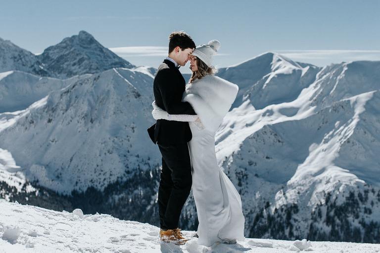zimowa sesja ślubna w górach Kasprowy Wierch