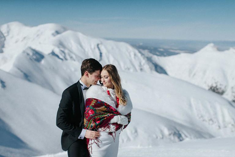 zimowa sesja zdjęciowa w Bieszczadach